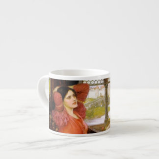 Lady of Shalott  Sitting at Her Desk Espresso Cup