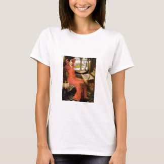 Lady of Shalott  Sitting at Her Desk T-Shirt