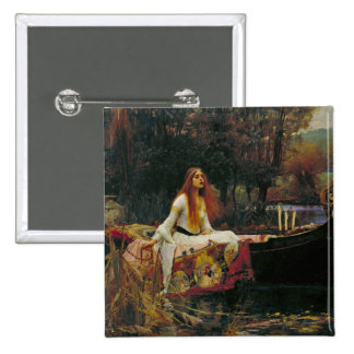 Lady of Shalott with Flowing Hair Buttons