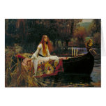 Lady of Shalott with Flowing Hair Greeting Card