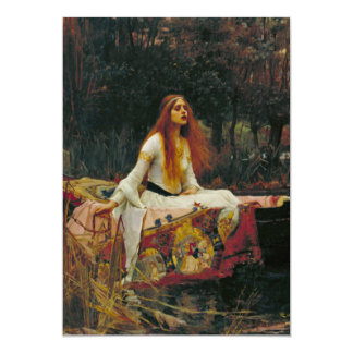 Lady of Shalott with Flowing Hair Custom Announcement