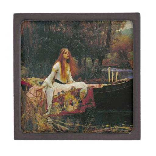 Lady of Shalott with Flowing Hair Premium Jewelry Box