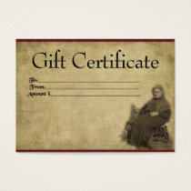 Lady Of The Corn- Prim Gift Certificate Cards