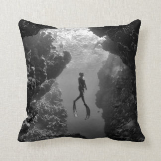 Lady Of The Deep - Throw Pillow