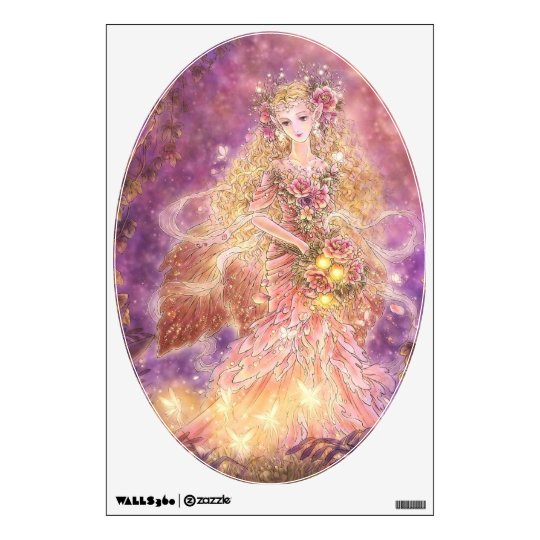 Lady of the Forest Fantasy Art Wall Decal