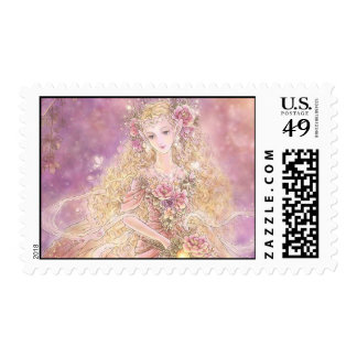 Lady of the Forest Postage Stamp