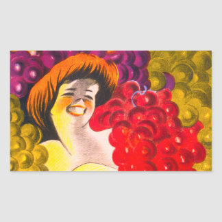 Lady of the Grapes Rectangular Stickers