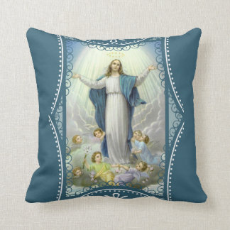 Lady of the Immaculate Conception Angels Throw Pillow