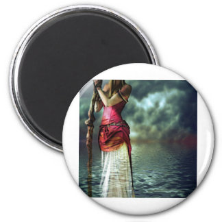 LADY OF THE LAKE 2 INCH ROUND MAGNET