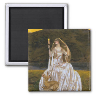 Lady of the Lake 2 Inch Square Magnet