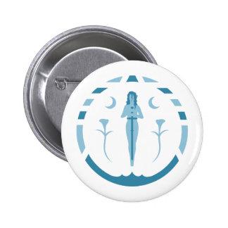 Lady of The Lake Blue Symbol Pinback Button