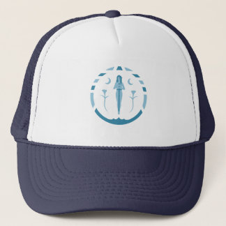 Lady of The Lake Blue Symbol Trucker Hat