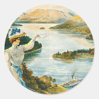 Lady of the Lake ~ Furness Railway Classic Round Sticker