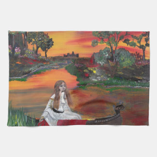 Lady Of The Lake Kitchen Towel