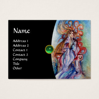 LADY OF THE LAKE monogram gem pink violet red Business Card