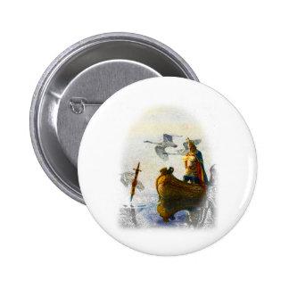Lady of the Lake Pinback Button