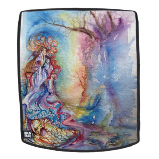 LADY OF THE LAKE Pink Blue Fantasy Backpack