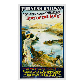 Lady of the Lake Steam Ship Vintage Travel Ad Posters