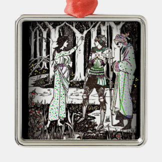 Lady of the Lake Tells About Excalibur Metal Ornament