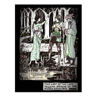 Lady of the Lake Tells About Excalibur Postcard