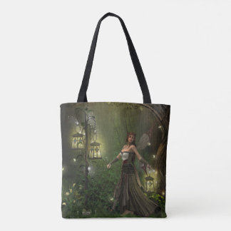 Lady of the Lanterns All-Over Print Tote