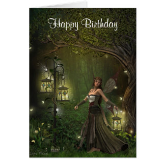 Lady of the Lanterns Birthday Card