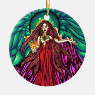 Lady of the Light Round Ornament