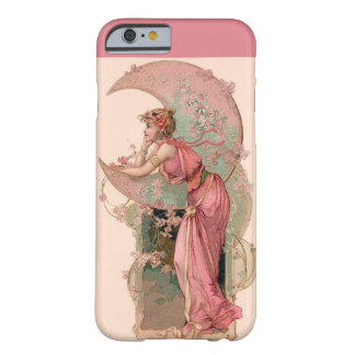 LADY OF THE MOON WITH FLOWERS IN PINK BARELY THERE iPhone 6 CASE