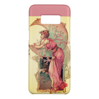 LADY OF THE MOON WITH FLOWERS IN PINK YELLOW Case-Mate SAMSUNG GALAXY S8 CASE
