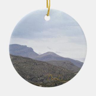 Lady of the Mountain Alamogordo New Mexico Ceramic Ornament
