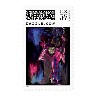 """Lady of the Night"" - Postage Stamp"