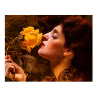 Lady of the Roses by Franz Dvorak Postcard