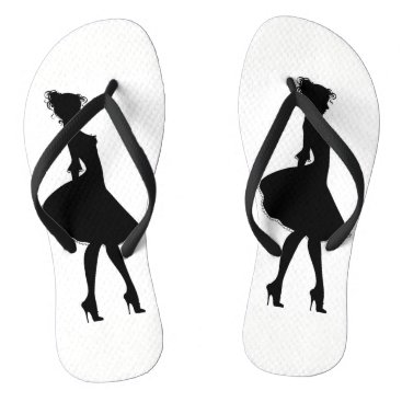 Beach Themed Lady of the shoes flip flops