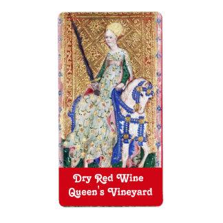 LADY OF THE SWORDS WINE LABEL / ANTIQUE TAROTS