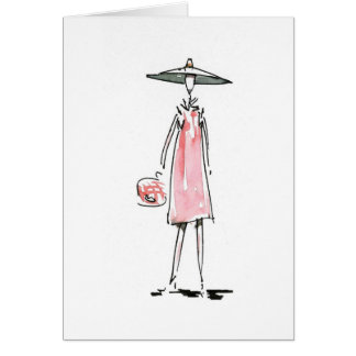 Lady off to Lunch Card