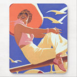 Lady On a Cruise Mouse Mat