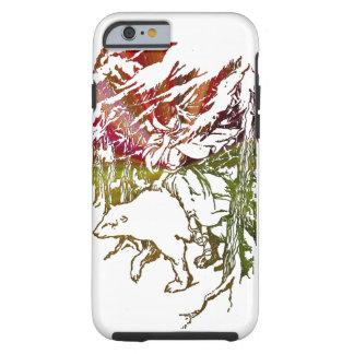 lady on a polar bear apple iphone6 case design