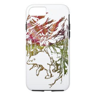 lady on a polar bear apple iPhone 7 case design