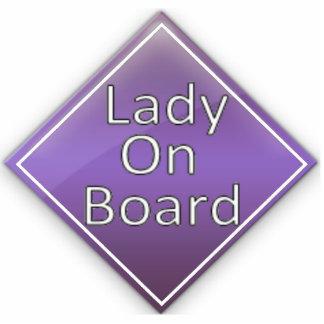 Lady on Board Magnet