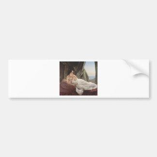 Lady on Canvas Bumper Sticker
