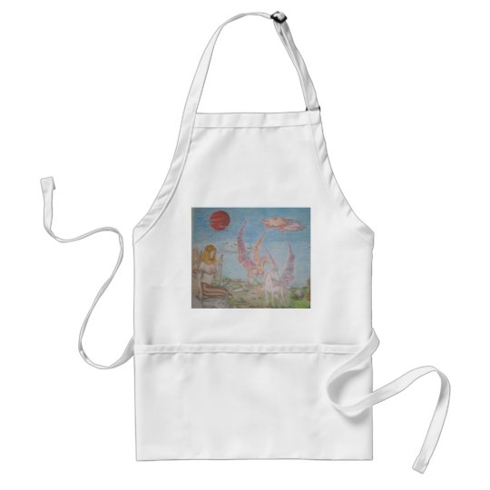 Lady on the rock adult apron