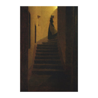 Lady on the Staircase Gallery Wrap Canvas