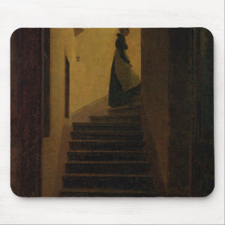Lady on the Staircase Mouse Pad