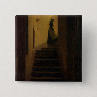 Lady on the Staircase Pinback Button