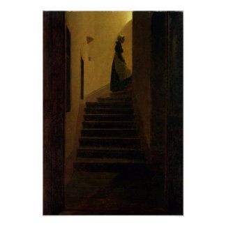 Lady on the Staircase Poster
