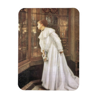 Lady on the Stairs Rectangle Magnet
