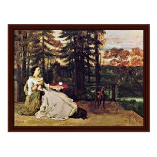 Lady On The Terrace (Le Dame De Francfort) Postcard