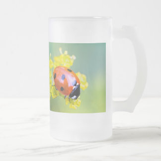 lady on top frosted glass beer mug
