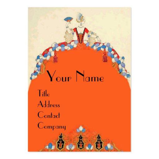 LADY ORANGE FASHION COSTUME DESIGNER MAKEUP ARTIST LARGE BUSINESS CARDS (Pack OF 100)