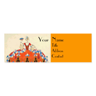 LADY ORANGE FASHION COSTUME DESIGNER MAKEUP ARTIST Double-Sided MINI BUSINESS CARDS (Pack OF 20)